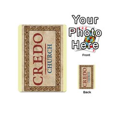 Credo   Deck 3 By Mike   Playing Cards 54 (mini)   M2530rjbk1fw   Www Artscow Com Back