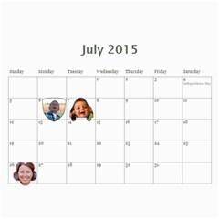2015 Calendar Us By Kristi   Wall Calendar 11  X 8 5  (12 Months)   Ayaf333cbkmr   Www Artscow Com Jul 2015