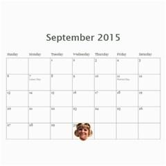 2015 Calendar Us By Kristi   Wall Calendar 11  X 8 5  (12 Months)   Ayaf333cbkmr   Www Artscow Com Sep 2015