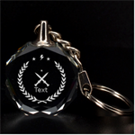 3d key chan - 3D Engraving Circle Key Chain