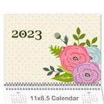 Wall Calendar 11 x 8.5 : Ranunculus Flowers2 - Wall Calendar 11  x 8.5  (12-Months)