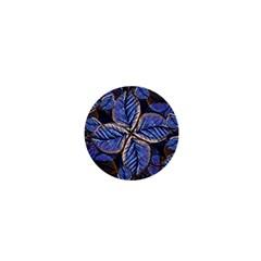 Fantasy Nature Pattern Print 1  Mini Button Magnet by dflcprints