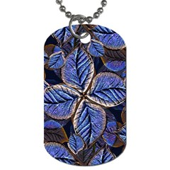 Fantasy Nature Pattern Print Dog Tag (one Sided) by dflcprints