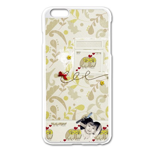Apple Iphone 6 Plus Enamel White Case By Deca   Apple Iphone 6 Plus/6s Plus Enamel White Case   02i511p2wkh3   Www Artscow Com Front