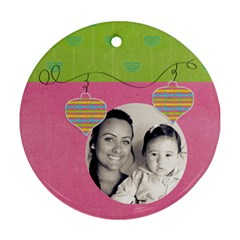 Round Ornament Two Sides By Deca   Round Ornament (two Sides)   Nqaabdhr2slg   Www Artscow Com Front