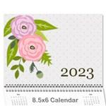 Wall Calendar 8.5 x 6: Ranunculus Flowers - Wall Calendar 8.5  x 6