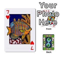 Animals Poker Set By Angela   Playing Cards 54 Designs   Xeb0lkicoas1   Www Artscow Com Front - Heart7