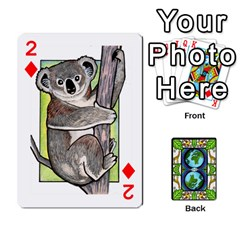 Animals Poker Set By Angela   Playing Cards 54 Designs   Xeb0lkicoas1   Www Artscow Com Front - Diamond2