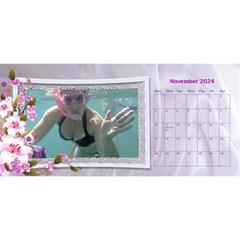 Pretty Floral Desktop Calendar By Deborah   Desktop Calendar 11  X 5    Yfs1o0whtwm8   Www Artscow Com Nov 2017