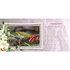 Pretty Floral Desktop Calendar By Deborah   Desktop Calendar 11  X 5    Yfs1o0whtwm8   Www Artscow Com Feb 2017