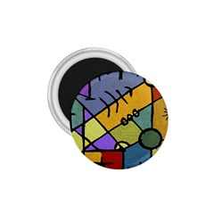 Multicolored Tribal Pattern Print 1 75  Button Magnet by dflcprints