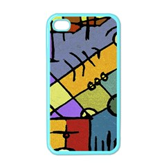Multicolored Tribal Pattern Print Apple Iphone 4 Case (color) by dflcprints