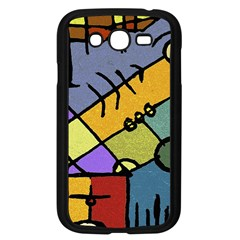 Multicolored Tribal Pattern Print Samsung Galaxy Grand Duos I9082 Case (black) by dflcprints