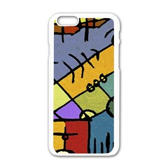 Multicolored Tribal Pattern Print Apple Iphone 6 White Enamel Case by dflcprints