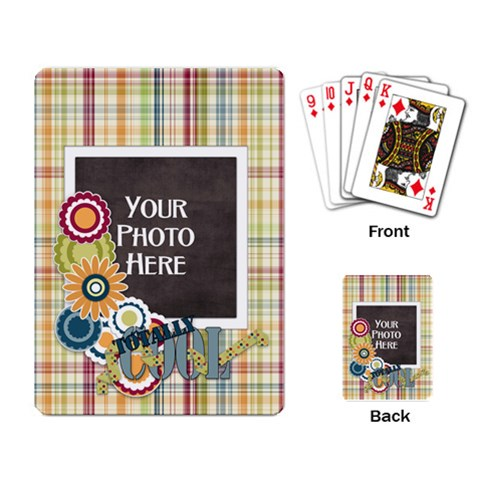 Totally Cool Playing Cards By Lisa Minor   Playing Cards Single Design   S50mdkwmqdkd   Www Artscow Com Back