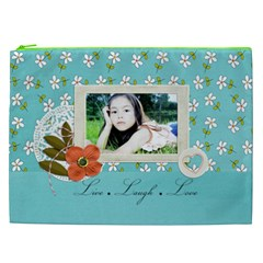 Cosmetic Bag (xxl): Live Love Laugh By Jennyl   Cosmetic Bag (xxl)   Otn1erqea5zt   Www Artscow Com Front