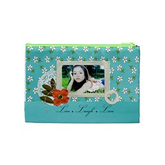 Cosmetic Bag (m):  Live Love Laugh By Jennyl   Cosmetic Bag (medium)   1ldgg5o6penw   Www Artscow Com Back