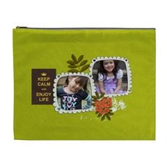 Cosmetic Bag (xl): Keep Calm By Jennyl   Cosmetic Bag (xl)   L7gqu52igpha   Www Artscow Com Front