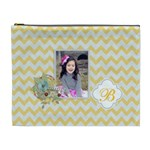 Cosmetic Bag (XL): Yellow Chevron
