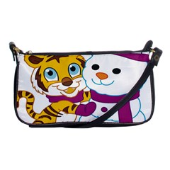 Winter Time Zoo Friends   004 Evening Bag by Colorfulart23