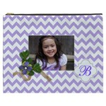 Cosmetic Bag (XXXL): Violet Chevron
