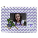Cosmetic Bag (XXL): Violet Chevron