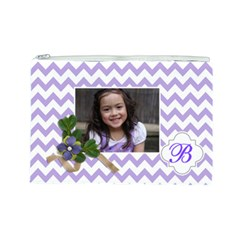 Cosmetic Bag (l): Violet Chevron By Jennyl   Cosmetic Bag (large)   I1i5zt6j9ovj   Www Artscow Com Front