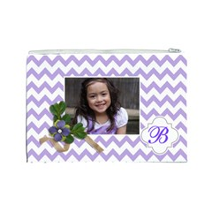 Cosmetic Bag (l): Violet Chevron By Jennyl   Cosmetic Bag (large)   I1i5zt6j9ovj   Www Artscow Com Back