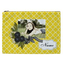 Cosmetic Bag (xxl): Black Ribbon By Jennyl   Cosmetic Bag (xxl)   Nrn35n8fqw5f   Www Artscow Com Front