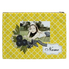 Cosmetic Bag (xxl): Black Ribbon By Jennyl   Cosmetic Bag (xxl)   Nrn35n8fqw5f   Www Artscow Com Back
