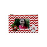Cosmetic Bag (S): Red Chevron - Cosmetic Bag (Small)