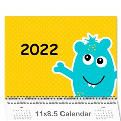 Wall Calendar 11 X 8 5 : Monsters By Jennyl   Wall Calendar 11  X 8 5  (12 Months)   2zjalfqm64uj   Www Artscow Com Cover