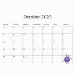 Wall Calendar 11 X 8 5 : Monsters By Jennyl   Wall Calendar 11  X 8 5  (12 Months)   2zjalfqm64uj   Www Artscow Com Oct 2016