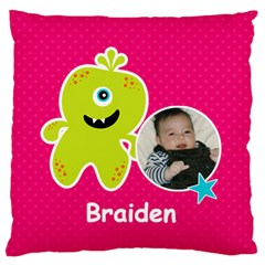 Large Cushion Case (two Sides) : Monster 2 By Jennyl   Large Cushion Case (two Sides)   Ivymju3e0jyk   Www Artscow Com Front