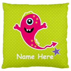 Large Cushion Case (two Sides) : Monster 4 By Jennyl   Large Cushion Case (two Sides)   5vzkcxcb9de7   Www Artscow Com Back