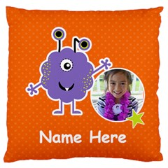 Large Cushion Case (two Sides) : Monster 5 By Jennyl   Large Cushion Case (two Sides)   O8r4ise9a2qh   Www Artscow Com Front