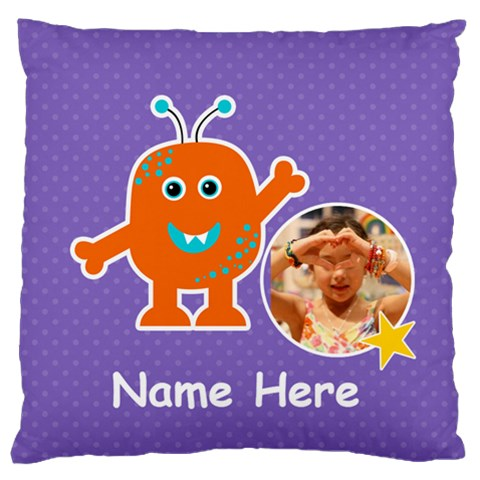Large Cushion Case (one Side) : Monster 6 By Jennyl   Large Cushion Case (one Side)   Yion8mk26ua5   Www Artscow Com Front