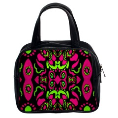 Psychedelic Retro Ornament Print Classic Handbag (two Sides) by dflcprints