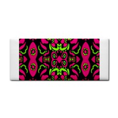 Psychedelic Retro Ornament Print Hand Towel by dflcprints