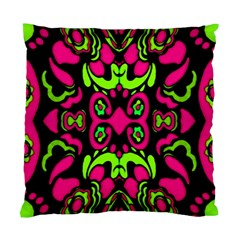 Psychedelic Retro Ornament Print Cushion Case (single Sided)  by dflcprints