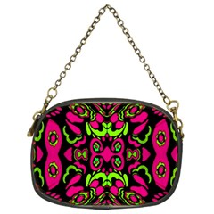 Psychedelic Retro Ornament Print Chain Purse (two Sided)  by dflcprints