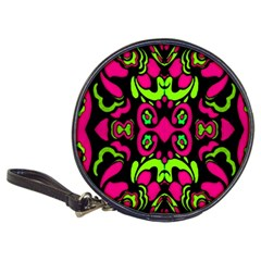 Psychedelic Retro Ornament Print Cd Wallet by dflcprints