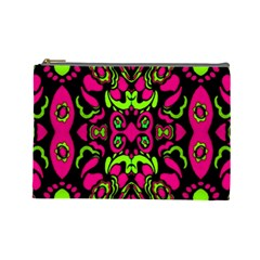 Psychedelic Retro Ornament Print Cosmetic Bag (large) by dflcprints