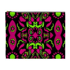 Psychedelic Retro Ornament Print Cosmetic Bag (xl) by dflcprints