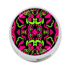 Psychedelic Retro Ornament Print 4 Port Usb Hub (two Sides) by dflcprints