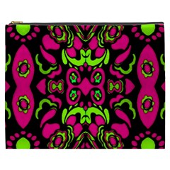 Psychedelic Retro Ornament Print Cosmetic Bag (xxxl) by dflcprints