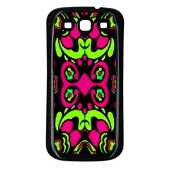 Psychedelic Retro Ornament Print Samsung Galaxy S3 Back Case (black) by dflcprints