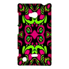 Psychedelic Retro Ornament Print Nokia Lumia 720 Hardshell Case by dflcprints