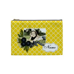 Cosmetic Bag (m): Black Ribbon By Jennyl   Cosmetic Bag (medium)   7afg3r15065i   Www Artscow Com Front