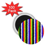 Basic Colors Curly Stripes 1 75  Button Magnet (100 Pack) by BestCustomGiftsForYou